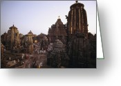 Asian Architecture And Art Greeting Cards - The Lingaraja Temple In Bhubaneshwar Greeting Card by James P. Blair