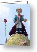 Prince Greeting Cards - The Little Prince Greeting Card by Amir Paz