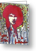 The Doors Mixed Media Greeting Cards - The Lizard King Greeting Card by Robert Wolverton Jr