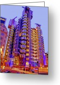 Purple House Greeting Cards - The Lloyds Building City of London Greeting Card by Chris Smith