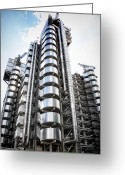 Award Digital Art Greeting Cards - The Lloyds Building Greeting Card by Martin  Fry