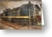 Formerly Greeting Cards - The Locomotive Greeting Card by Paul Ward