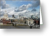Paul Photo Greeting Cards - The London Skyline Towards St Pauls Cathedral Greeting Card by Eyespy