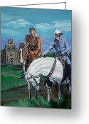 Clayton Painting Greeting Cards - The Lone Ranger and Tonto Tribute Greeting Card by Bryan Bustard