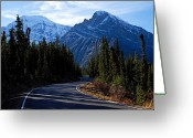 Edith Greeting Cards - The Long and Winding Road Greeting Card by Larry Ricker