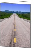 West Greeting Cards - The Long Road Ahead Greeting Card by Olivier Le Queinec