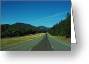 Sky Jewelry Greeting Cards - The Long Road Greeting Card by Cherokee ThePhatLydy
