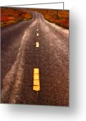 Francis Digital Art Greeting Cards - The Long Road Home . Painterly Style . Long Size Greeting Card by Wingsdomain Art and Photography