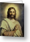 Jesus Painting Greeting Cards - The Lords Image Greeting Card by Heinrich Hoffmann