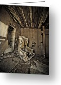 Forgotten Greeting Cards - The Lost Chair Greeting Card by Merrick Imagery