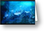 Cover Greeting Cards - The Lost City Greeting Card by Karen Koski