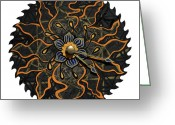 Saw Blades Greeting Cards - The Lotucia Greeting Card by Jessica Sornson
