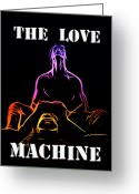Curves Greeting Cards - The Love Machine Greeting Card by Stefan Kuhn