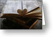 Temperament Photo Greeting Cards - The love of a book Greeting Card by Georgia Fowler