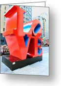 Must See Greeting Cards - The Love Sculpture Greeting Card by Paul Ward