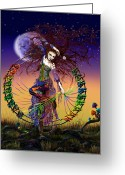 Digital Surreal Art Greeting Cards - The Lover Greeting Card by Kd Neeley