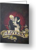 Clandestine Greeting Cards - The Lovers Greeting Card by Matthew Powell