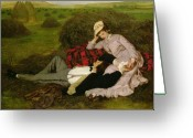 Resting Greeting Cards - The Lovers Greeting Card by Pal Szinyei Merse