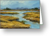South Carolina Beach Painting Greeting Cards - The Low Country Greeting Card by Torrie Smiley