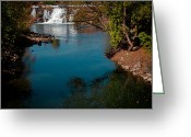 Folage Greeting Cards - The Lower Falls at Ticonderoga New York Greeting Card by David Patterson