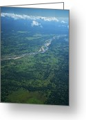 Safari Park Greeting Cards - The Lugenda River Flows Greeting Card by Jad Davenport