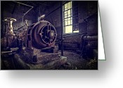 Rust Greeting Cards - The Machine Greeting Card by Everet Regal