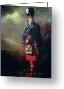 Sash Greeting Cards - The MacNab Greeting Card by Sir Henry Raeburn