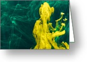 Green Water Greeting Cards - The Mad Professor Greeting Card by Gert Lavsen