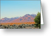 Photorealism Digital Art Greeting Cards - The magic light of Taos  Greeting Card by Charles Muhle