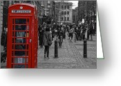 Selective Color Greeting Cards - The Magic Red Box Greeting Card by Laura George