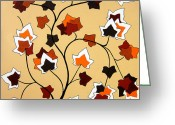 Bold Greeting Cards - The Magnolia House Rules Greeting Card by Oliver Johnston