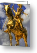 Pennant Greeting Cards - The Maid of Orleans - Joan of Arc - Jeanne dArc Greeting Card by Lee Dos Santos