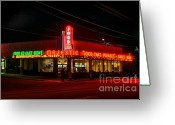 Photographers Ellipse Greeting Cards - The Majestic Diner Greeting Card by Corky Willis Atlanta Photography