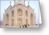 Charismatic Greeting Cards - The Majestic Taj Mahal India Greeting Card by Karel Noppe