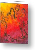 Dye Greeting Cards - The Mamas and Papas Greeting Card by Pamela Allegretto