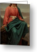 Biblical Greeting Cards - The Man of Sorrows Greeting Card by Sir Joseph Noel Paton