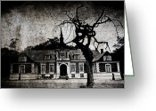Scary Mansion Greeting Cards - The mansion Greeting Card by Laura Melis