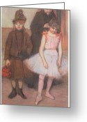 Family Pastels Greeting Cards - The Mante Family Greeting Card by Edgar Degas