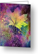 Autumnal Digital Art Greeting Cards - The Maple Greeting Card by Tim Allen