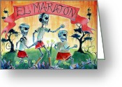 Recreation Greeting Cards - The Marathon Greeting Card by Heather Calderon