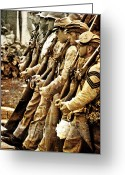 Solider Greeting Cards - The March Greeting Card by Emily Stauring