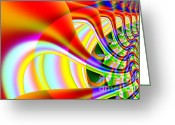 Mandelbrot Set Greeting Cards - The Marching Band . S14 Greeting Card by Wingsdomain Art and Photography