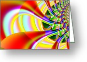 Mandelbrot Set Greeting Cards - The Marching Band . Square . S14 Greeting Card by Wingsdomain Art and Photography
