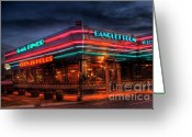 Convention Photography Atlanta Greeting Cards - The Marietta Diner Greeting Card by Corky Willis Atlanta Photography