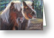 Mini Pastels Greeting Cards - The Marlton Minis Greeting Card by Karen Sanabria