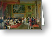 Napoleon Painting Greeting Cards - The Marriage of Eugene de Beauharnais Greeting Card by Francois Guillaume Menageot
