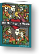 Opera Greeting Cards - The Marriage of Figaro Greeting Card by Joe Barsin