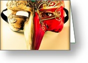Photograph Greeting Cards - The Mask on the floor Greeting Card by Bob Orsillo