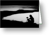 Silhouettes Greeting Cards - The Master Greeting Card by Debra and Dave Vanderlaan