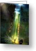 Featured Greeting Cards - The Maze Runner Greeting Card by Philip Straub